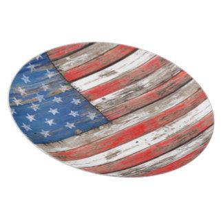 Americana Flag Plate