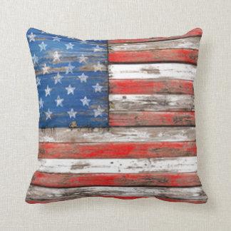 Americana Flag Throw Pillow