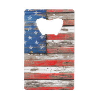 Americana Flag Wallet Bottle Opener