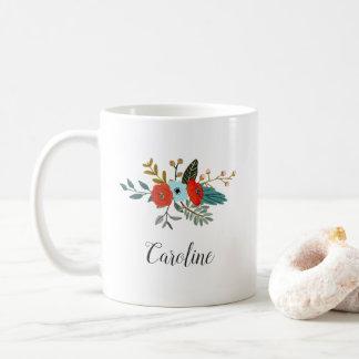 Americana Floral | Personalized Coffee Mug