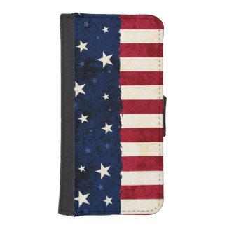 Americana Folk Stars & Stripes Patriotic Phone Wallet Case