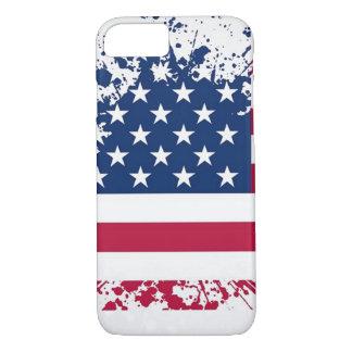 Americana Grunge Flag iPhone Case
