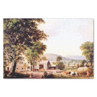 Americana Haying Country Farmer Tissue Paper