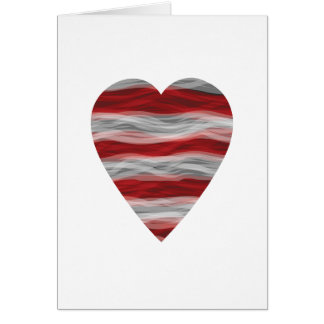 Americana Heart Greeting Card Blank Inside