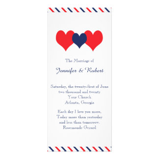 Americana Hearts Wedding Program