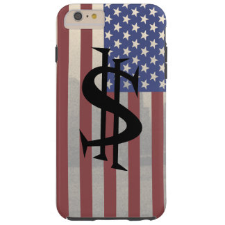 Americana iPhone Case Gifts USA Patriotic Money 2 Tough iPhone 6 Plus Case