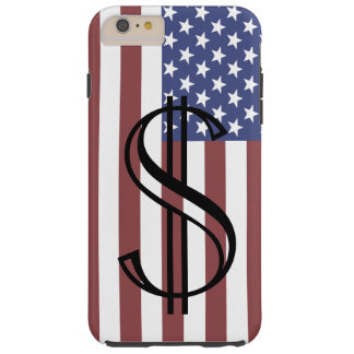 Americana iPhone Case Gifts USA Patriotic Money 3 Tough iPhone 6 Plus Case