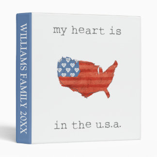 Americana | My Heart Is In The USA Map Binder