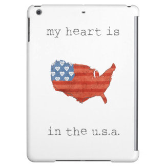 Americana | My Heart Is In The USA Map iPad Air Cases