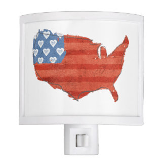 Americana | My Heart Is In The USA Map Night Lite