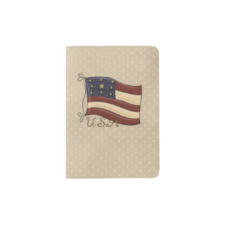 Americana Patriotic Passport Holder