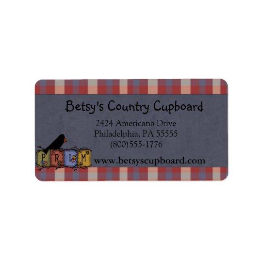 Americana Primitive Address Label (Avery)