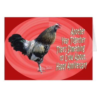 Americana Rooster  A 3-zz Card