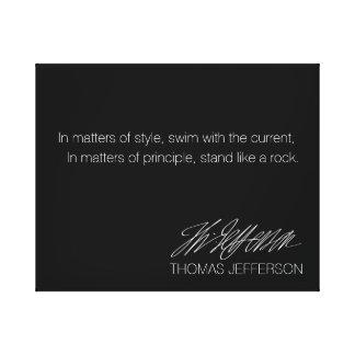 Americana Series: Thomas Jefferson Quote. Canvas Print