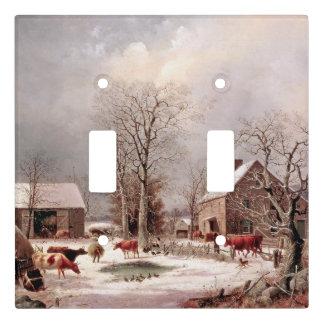 Americana Snow Farm Animals Light Switch Cover