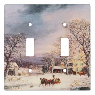 Americana Snow Horse Sleigh Light Switch Cover