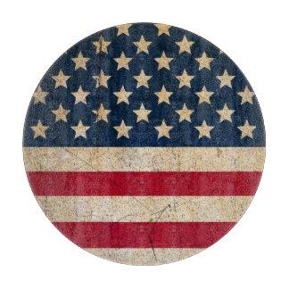 Americana Stars and Stripes USA Flag Cutting Board