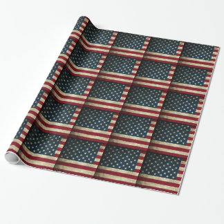 Americana USA Flag Wrapping Paper