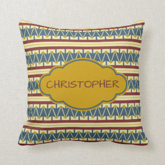 Americana Vintage Drum Personalized Throw Pillow