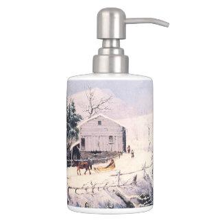 Americana Winter Snow Mill New England Bath Set