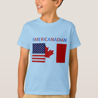 AMERICANADIAN 2 boys'  blue tee