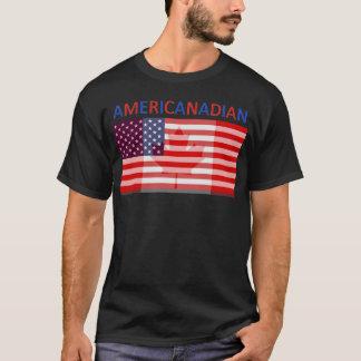 AMERICANADIAN full black tee shirt