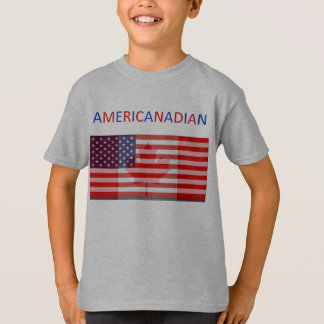 AMERICANADIAN kids'  grey tee
