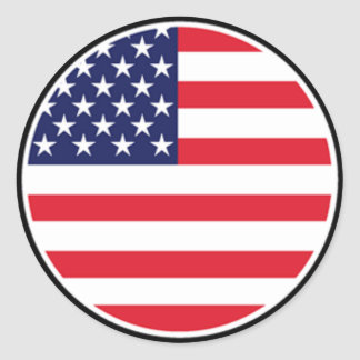 AmericanFlag Stckers by Burton Classic Round Sticker