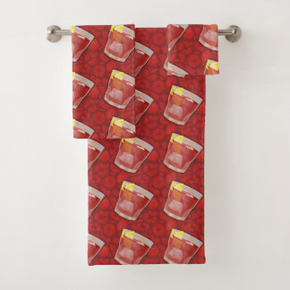 Americano Cocktail Bath Towel Set