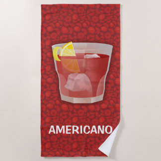 Americano Cocktail Beach Towel