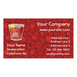 Americano cocktail business card