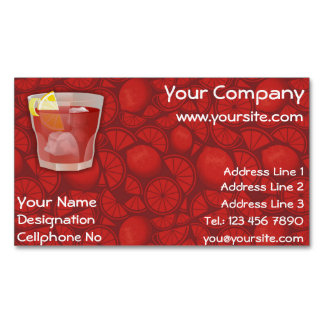 Americano cocktail business card magnet
