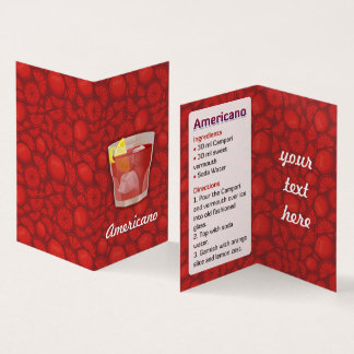 Americano Recipe Business Card