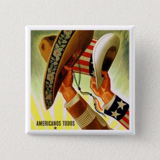 """""""Americanos Todos"""" (Americans All) Vintage Button"""