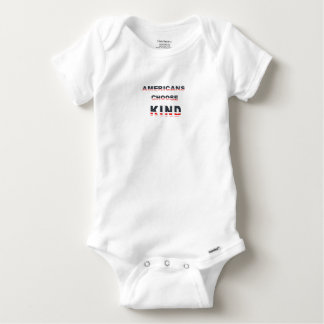 Americans choose kind baby onesie