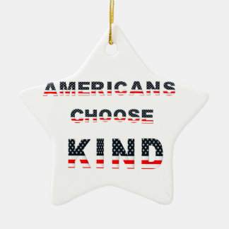 Americans choose kind ceramic ornament