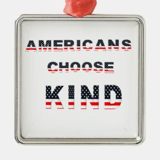 Americans choose kind metal ornament