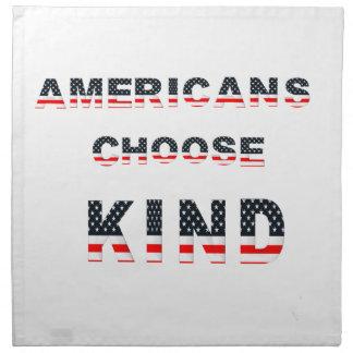 Americans choose kind napkin