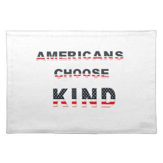 Americans choose kind placemat