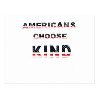 Americans choose kind postcard