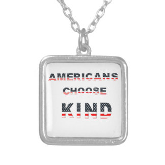 Americans choose kind silver plated necklace