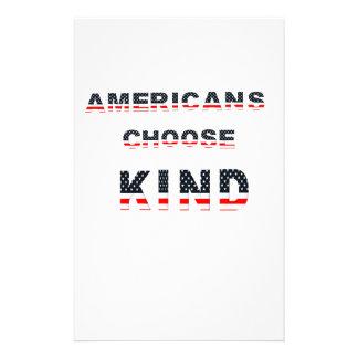Americans choose kind stationery