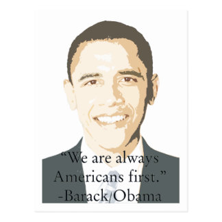 Americans First Postcard