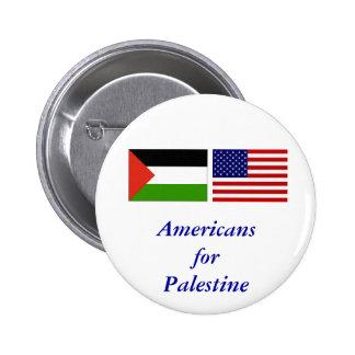 Americans for Palestine 2 Inch Round Button