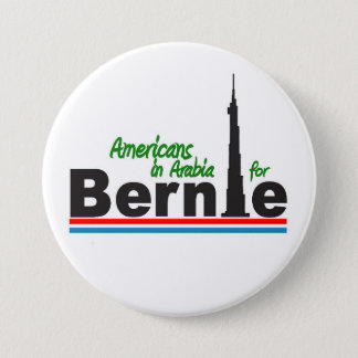 Americans in Arabia for Bernie 3 Inch Round Button