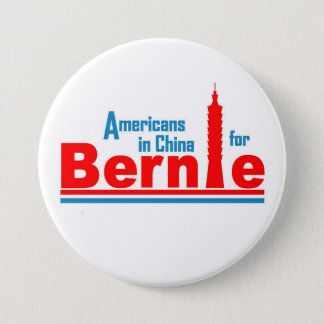 Americans in China for Bernie 3 Inch Round Button