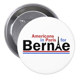 Americans in Paris for Bernie 3 Inch Round Button