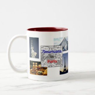 Americans in Paris Two-Tone Coffee Mug