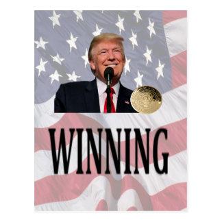 "Americas 45th President Trump ""Winning"" Postcard"