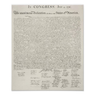 America's Declaration Of Independence Print